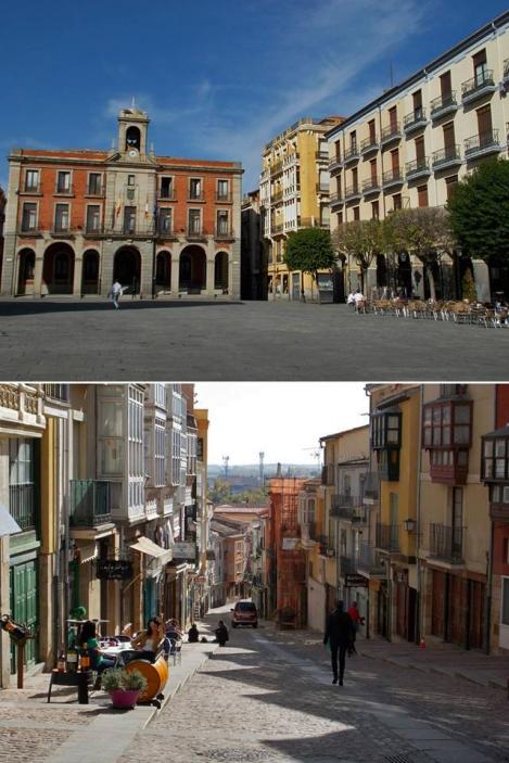 Plaza Mayor y cuesta