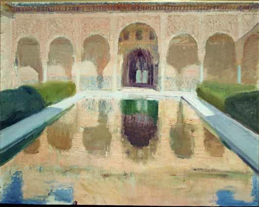 EL PATIO DE COMARES, LA ALHAMBRA DE GRANADA 1917 MUSEO SOROLLA