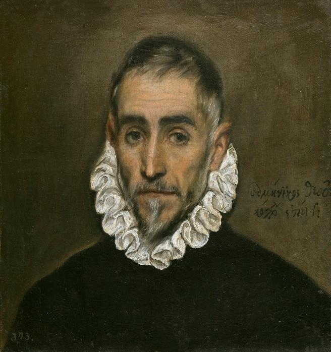 El Greco caballero anciano