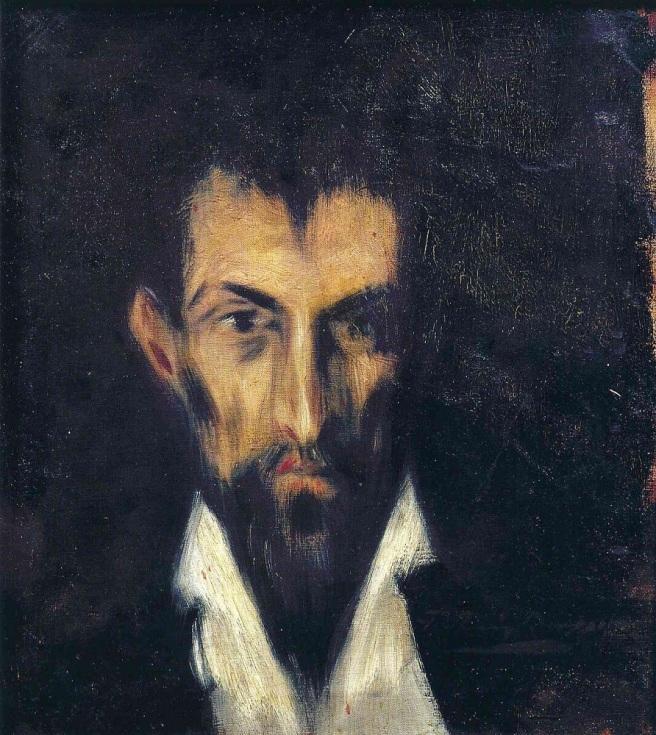 picasso retrato de un desconocido al estilo el greco