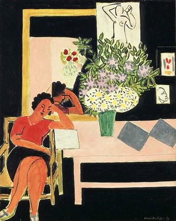 Henri Matisse (1869-1954)Liseuse sur fond noir, 1939