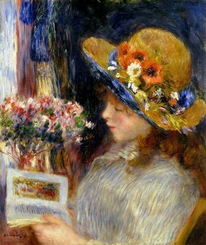 Renoir_Fille lisant, 1886