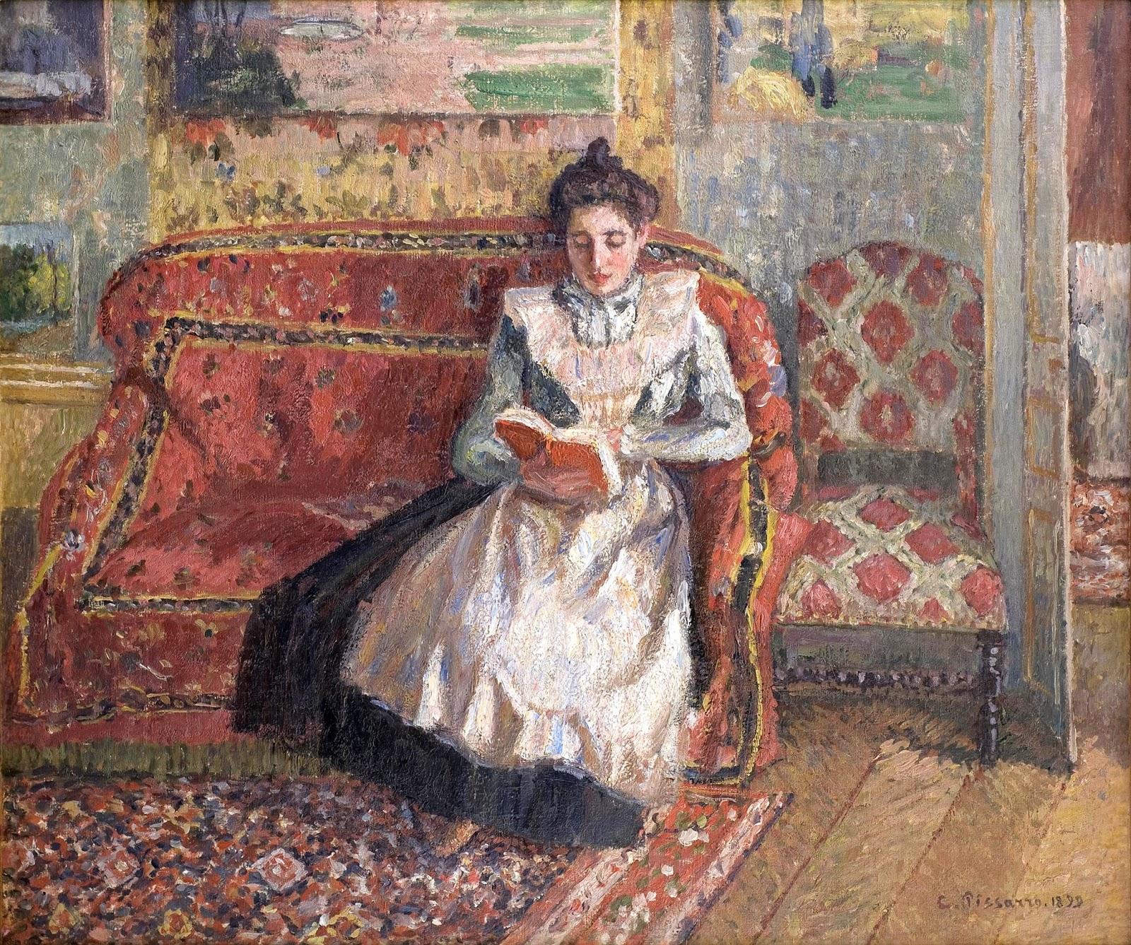 Retrato de Jeanne Pissarro leyendo, 1899_Camille Pissarro