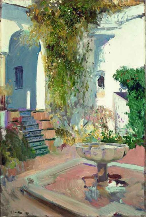 RINCON DEL GRUTESCO DEL ALCAZAR DE SEVILLA 1910 MUSEO SOROLLA