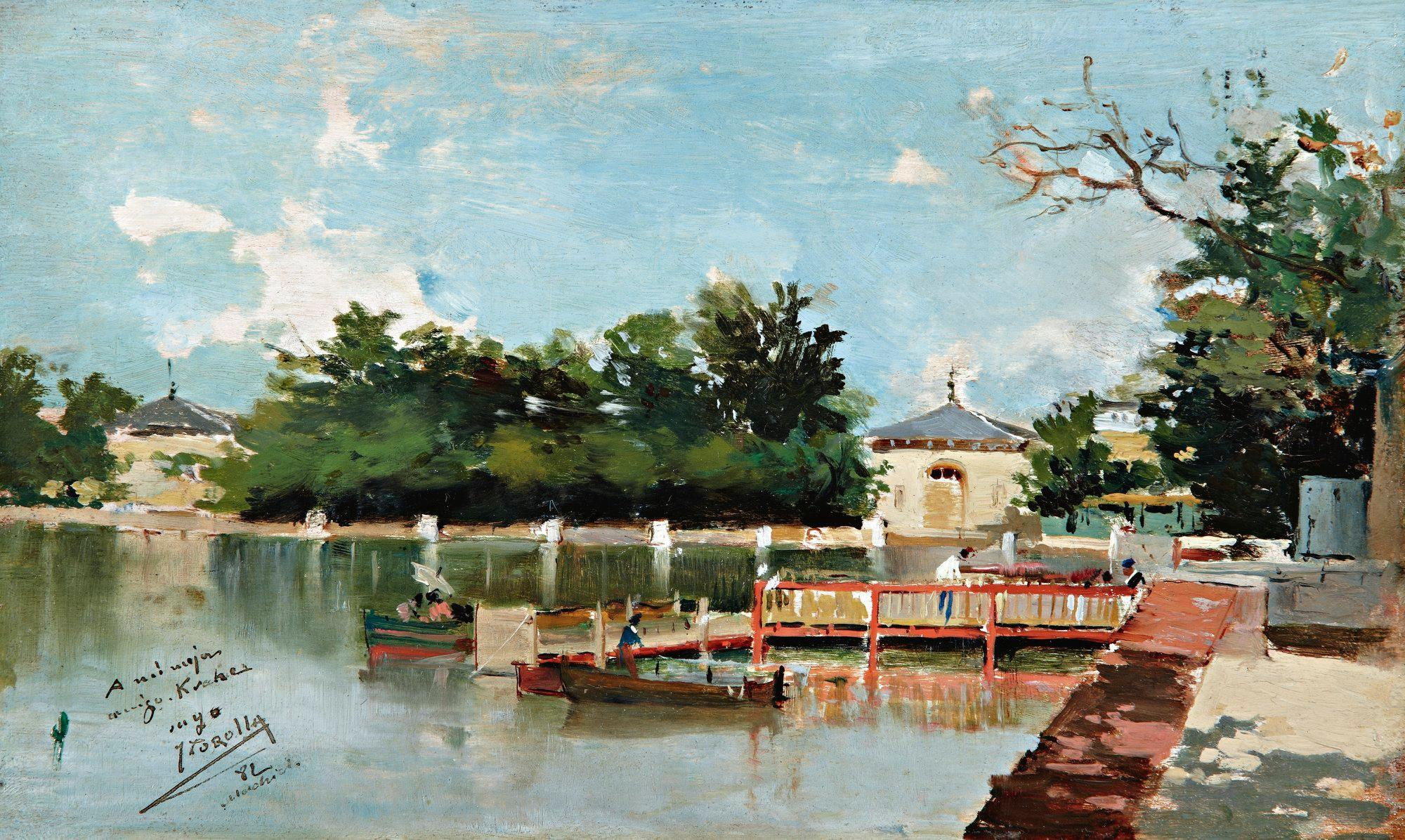 Vista del embarcadero del parque del Retiro 1882 MUSEO SOROLLA