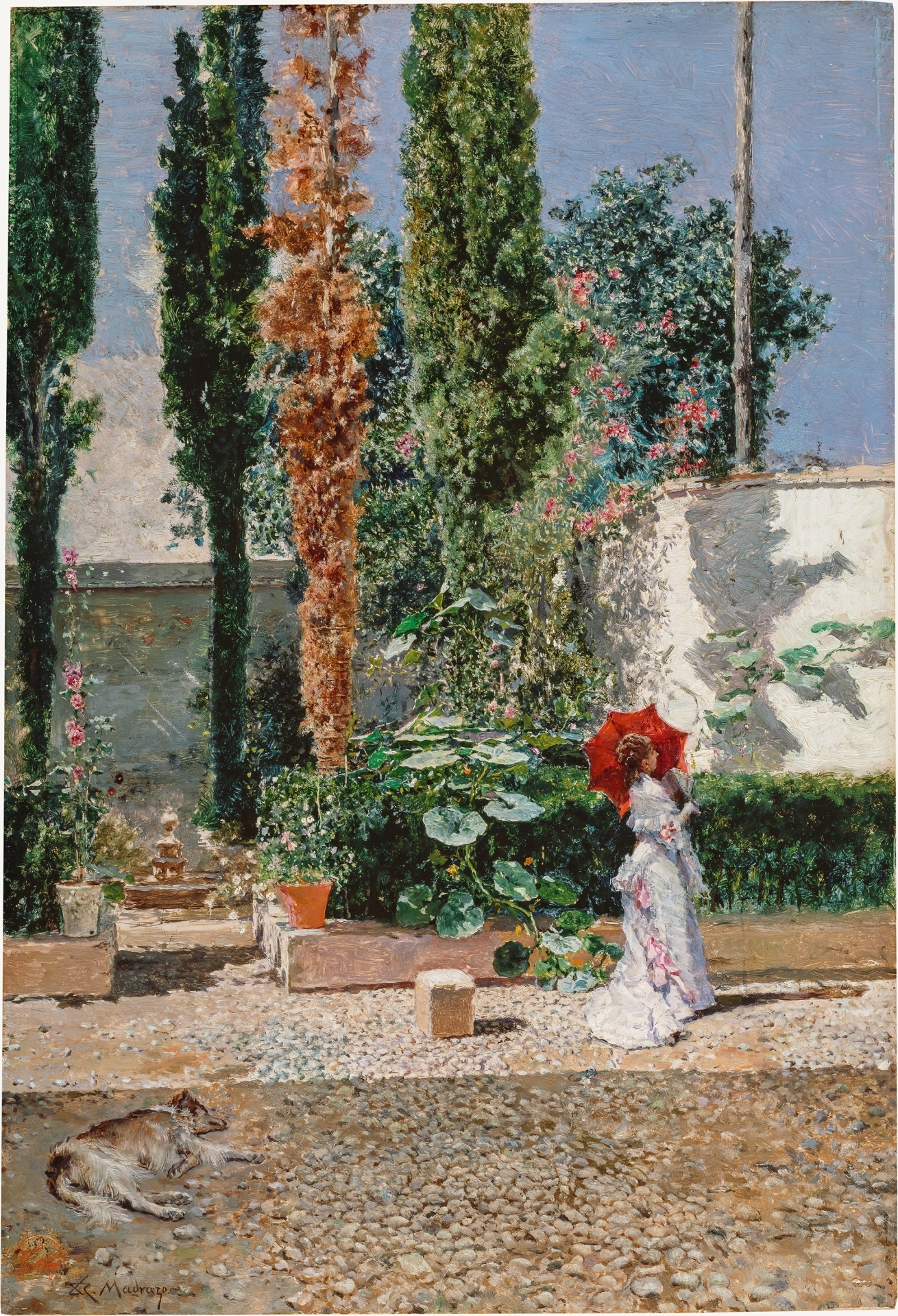 Jardín de la casa de Fortuny_Mariano Fortuny y Raimundo de Madrazo