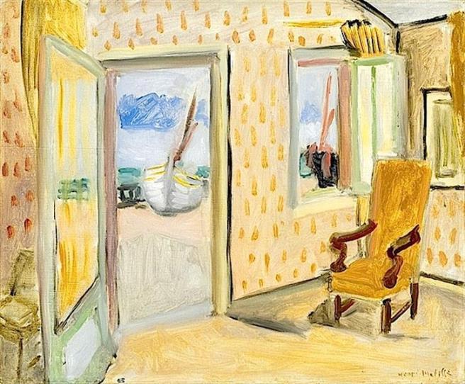 HENRI MATISSE - 1920 - Interior, puerta abierta