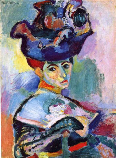 HENRI MATISSE - 1905 - Mujer con sombrero - Museo de Arte Moderno de San Francisco