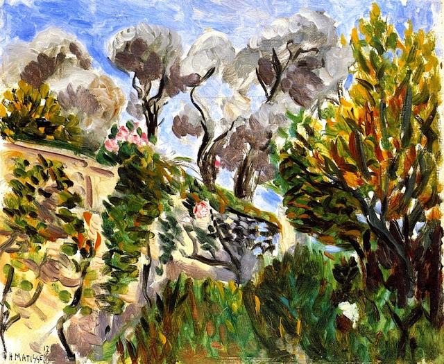 HENRI MATISSE - 1917 - Olive Trees, Renoir's Garden in Cagnes
