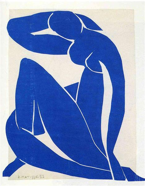 HENRI MATISSE - 1952 - Desnudo azul ii
