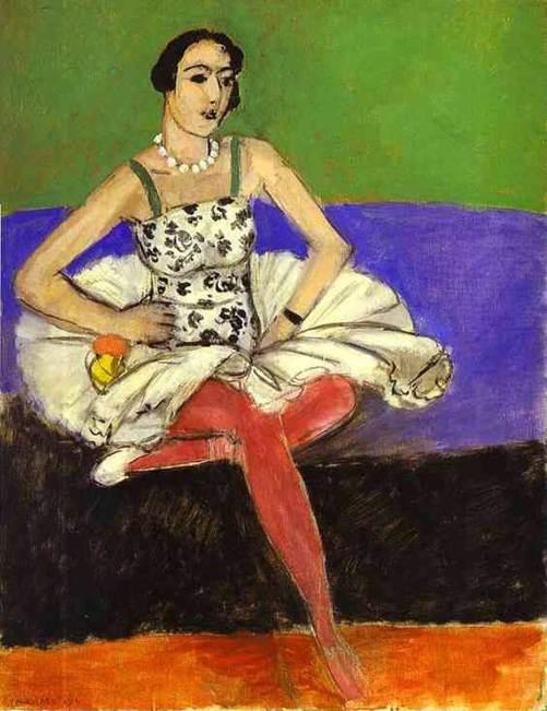 HENRI MATISSE - 1927 - Bailarina de ballet - Museo del Hermitage