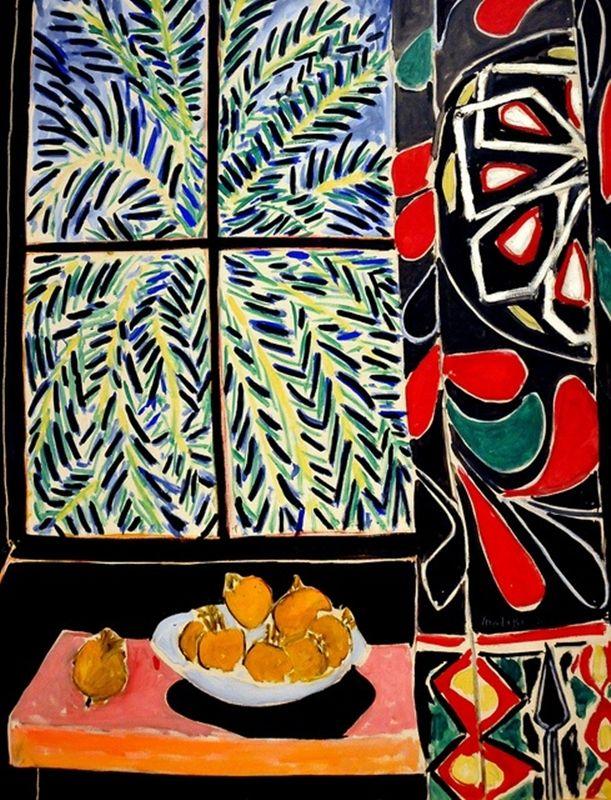 HENRI MATISSE - 1948 - Interior con cortina egipcia - The Phillips Collection