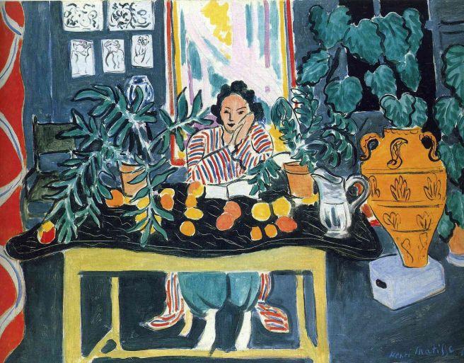 HENRI MATISSE - 1940 - Interior con jarrón etrusco - Museo de Arte de Cleveland