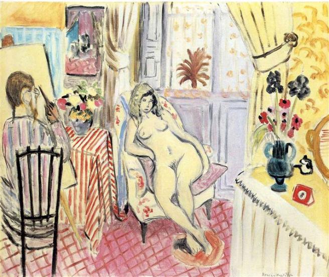 HENRI MATISSE - 1919 - El artista y su modelo