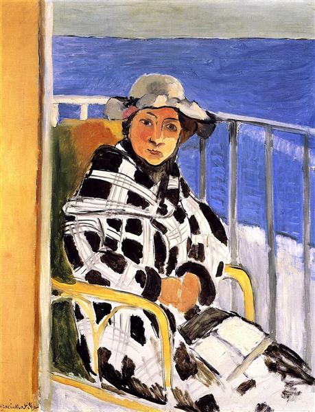 HENRI MATISSE - 1918 - Mlle Matisse en abrigo de tartán
