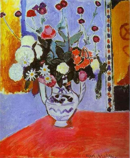HENRI MATISSE - 1907 - Vase with Two Handles (A Bunch of Flowers)
