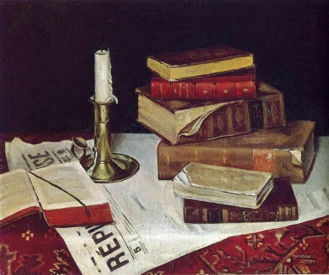 HENRI MATISSE - 1890 - Still life with books and candles
