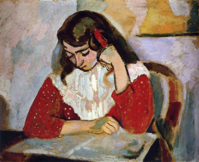 HENRI MATISSE - 1906 - La lectora Marguerite Matisse