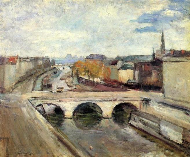 HENRI MATISSE - 1900 - El puente Saint Michel en Paris I