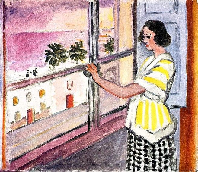 HENRI MATISSE - 1921 - Mujer joven en la ventana, puesta de sol - Museo de Arte de Baltimore