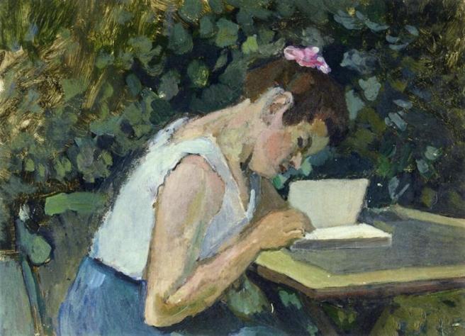 HENRI MATISSE - 1902 1903 - Mujer leyendo en el jardin
