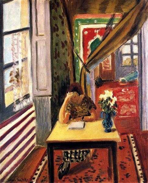 HENRI MATISSE - 1923 - Lectora apoyando el codo en la mesa