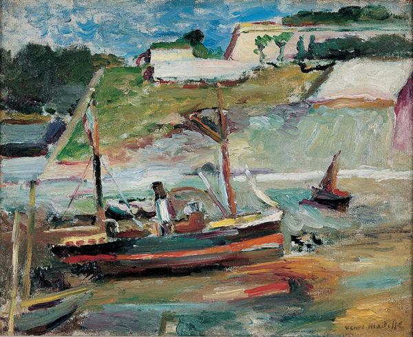 HENRI MATISSE - 1896 - Belle Ile (le port de Palais)