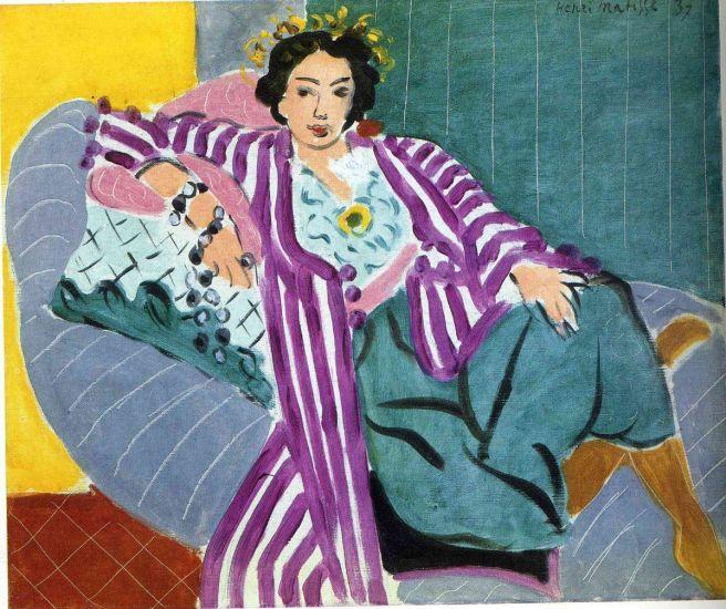 HENRI MATISSE - 1937 - Small Odalisque in Purple Robe