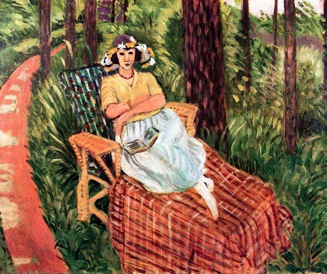 HENRI MATISSE - 1923 - Reposo entre los árboles