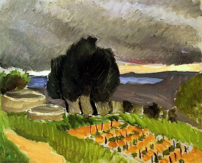 HENRI MATISSE - 1921 - Paisaje al mediodía antes de la tormenta
