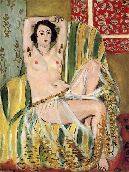 HENRI MATISSE - 1923 - Mujer árabe con brazos levantados - MoMA