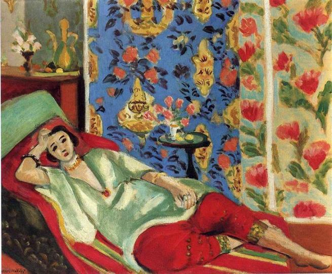 HENRI MATISSE - 1921 - Odalisca con pantalones rojos - Museo de la Orangerie