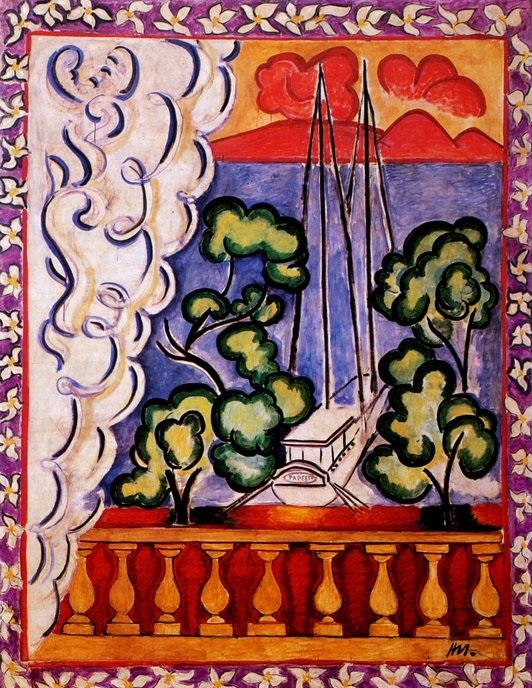 HENRI MATISSE - 1935 - Ventana en Tahiti - Museo Matisse - copia