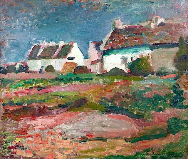HENRI MATISSE - 1896 - Maisons á Kervilahouen, Belle Ile