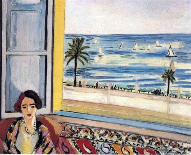 HENRI MATISSE - 1922 - Mujer sentada de espaldas a ventana abierta