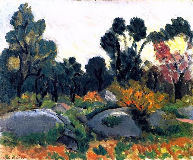 HENRI MATISSE - 1925 - Rocas en el valle du Loup