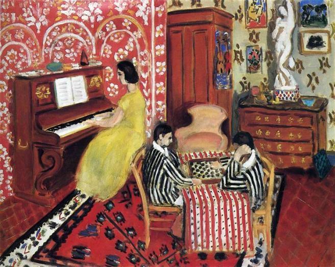 HENRI MATISSE - 1924 - Pianista y jugadores de damas