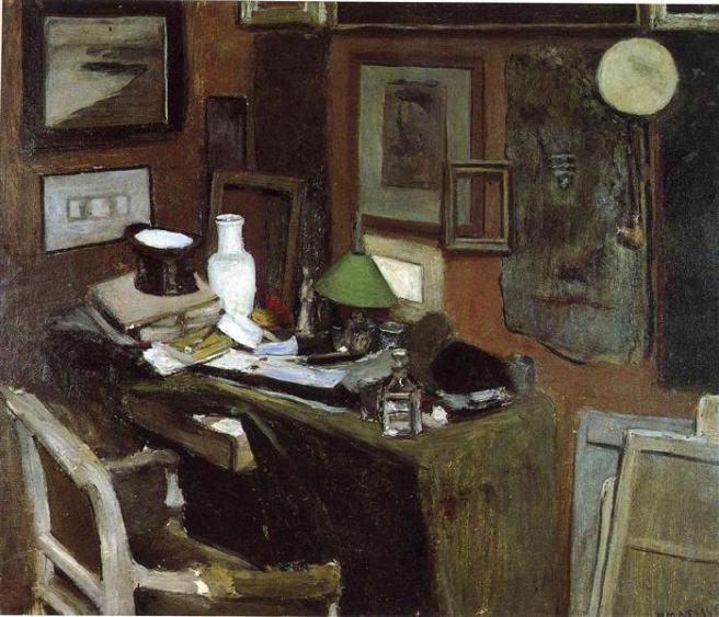 HENRI MATISSE - 1896 - Interior con sombrero de copa