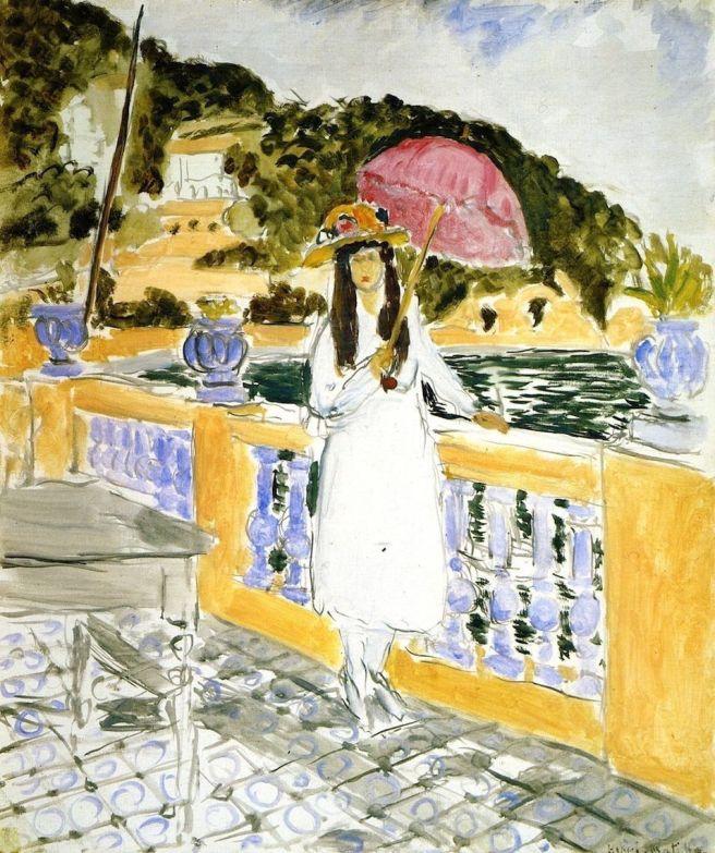 HENRI MATISSE - 1919 - Niña con sombrilla rosa