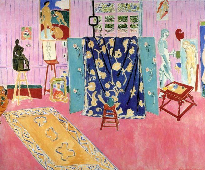 HENRI MATISSE - 1911 - El estudio del artista (el estudio rosa) - The Pushkin State Museum of Fine Arts