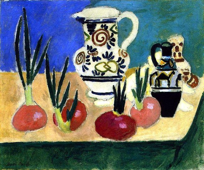 HENRI MATISSE - 1906 - Cebollas rojas - Galería Nacional de Dinamarca