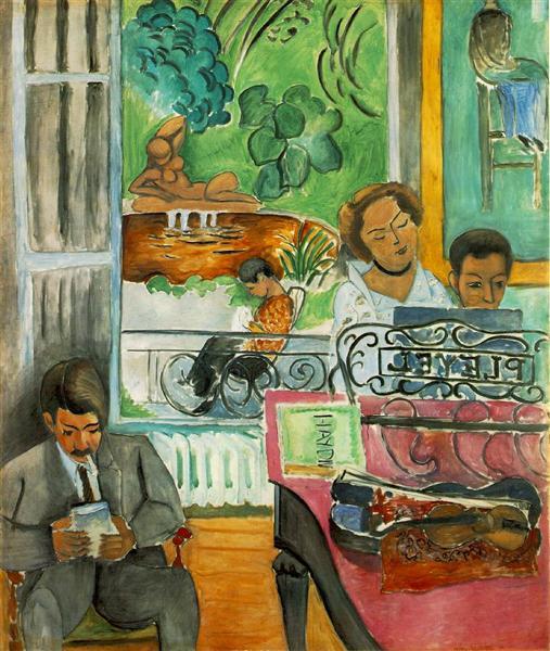 HENRI MATISSE - 1917 - La lección de música
