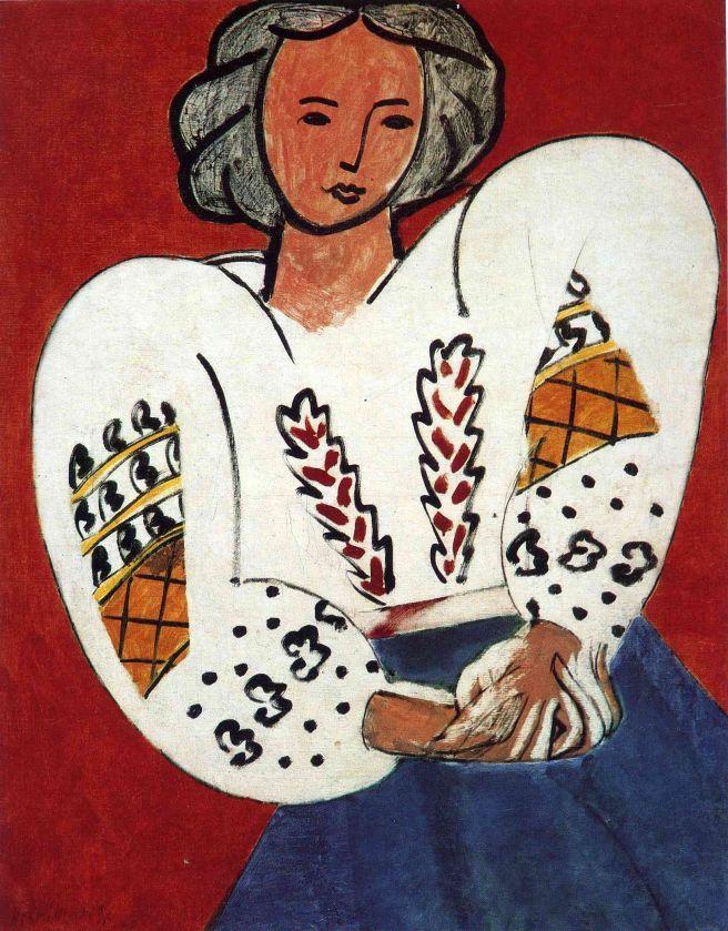 HENRI MATISSE - 1940 - La blusa rumana - Centre Pompidou