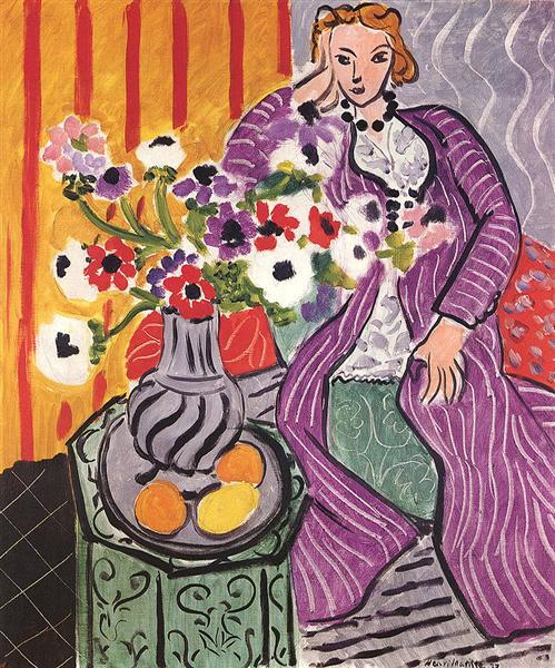 HENRI MATISSE - 1937 - Purple Robe and Anemones
