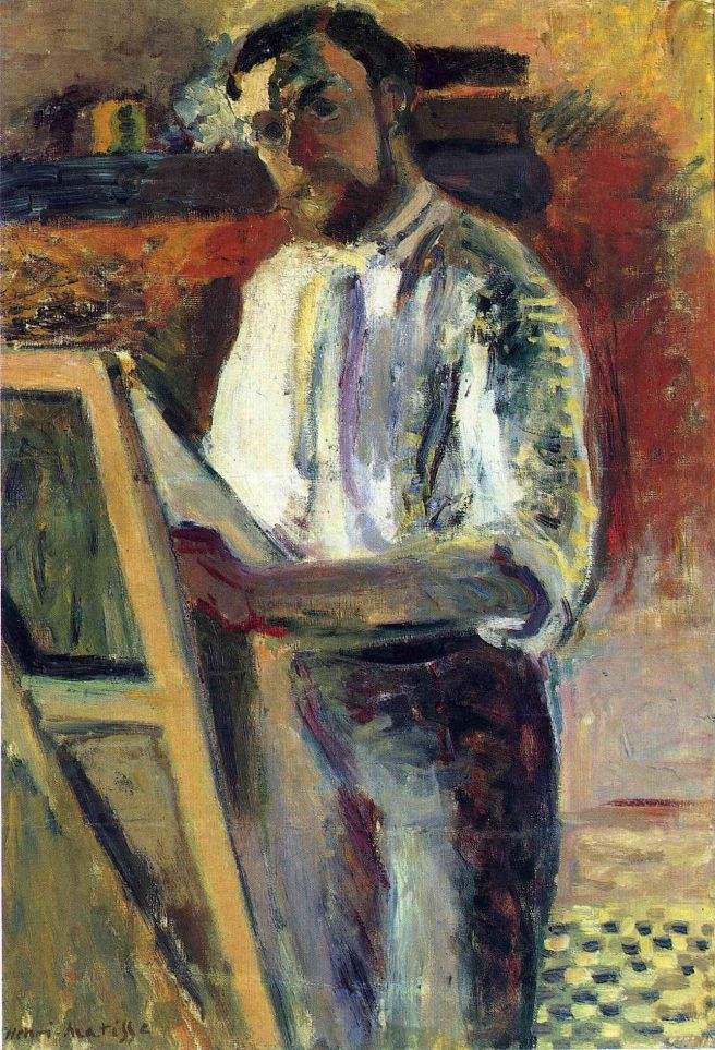 HENRI MATISSE - 1900 - Self-portrait in shirtleeves